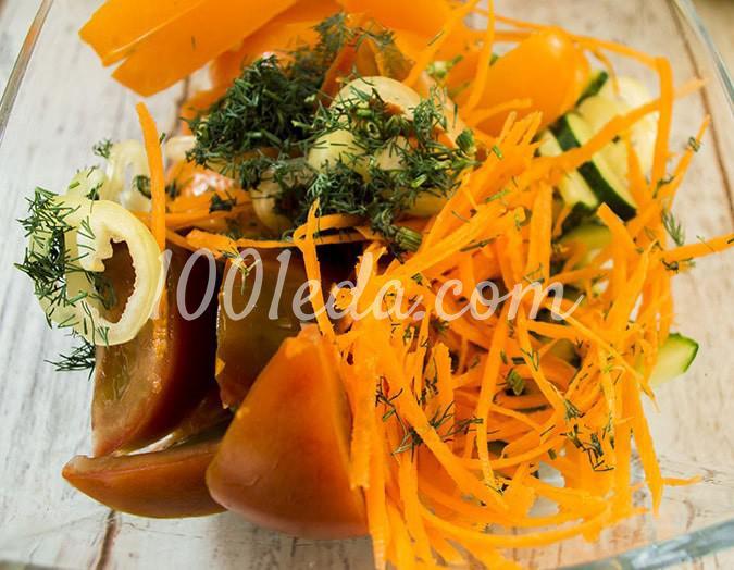 Салат овощной с помидорами Ассорти: пошагово с фото - Шаг №7