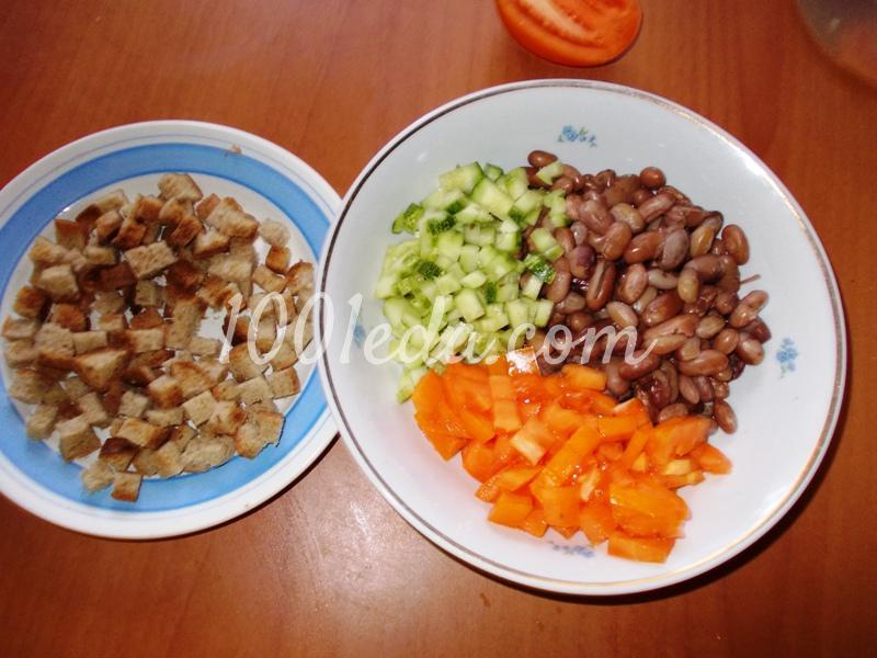 Салаты рецепты с пошагово с фасолью