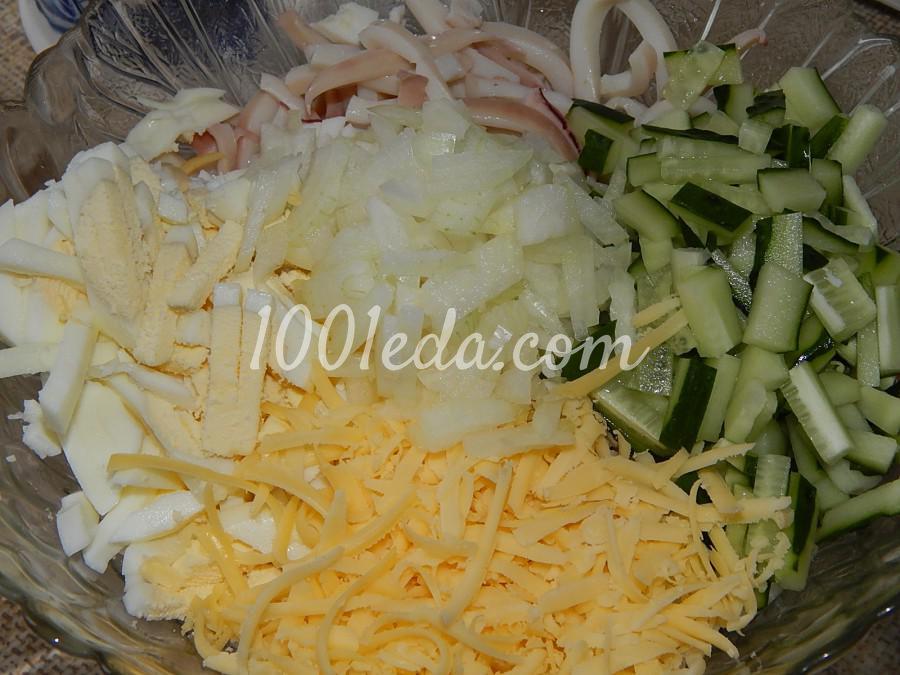 Салат с кальмарами горошком зеленым рецепт с