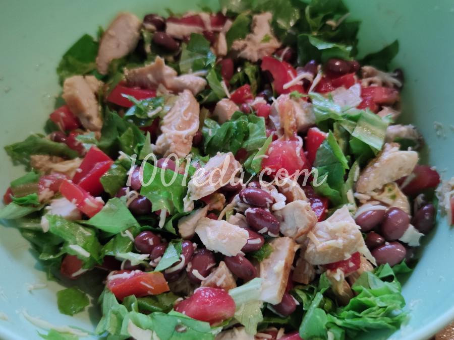 Салат с куриной грудкой, фасолью и помидорами: пошаговый с фото - Шаг №2