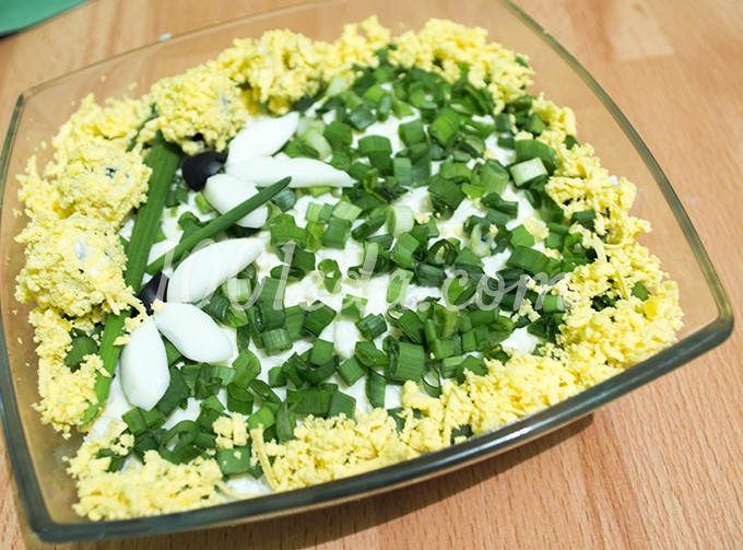 Салат с оливками и курицей рецепт с