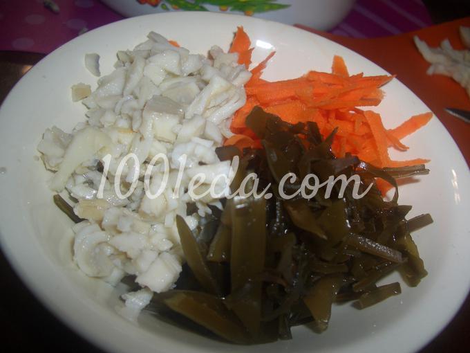 Рецепт салат из морской капусты пошагово с фото
