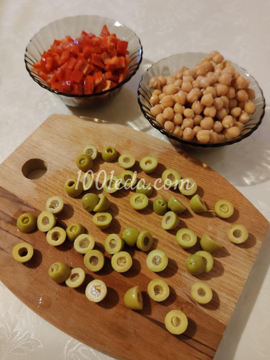 Салат с нутом и сладким перцем: пошаговый с фото - Шаг №1