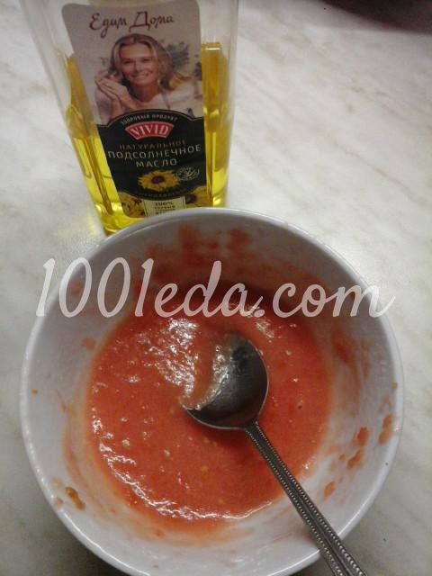 Салат вегетарианский из помидоров, болгарского перца и лука: пошаговый с фото - Шаг №7