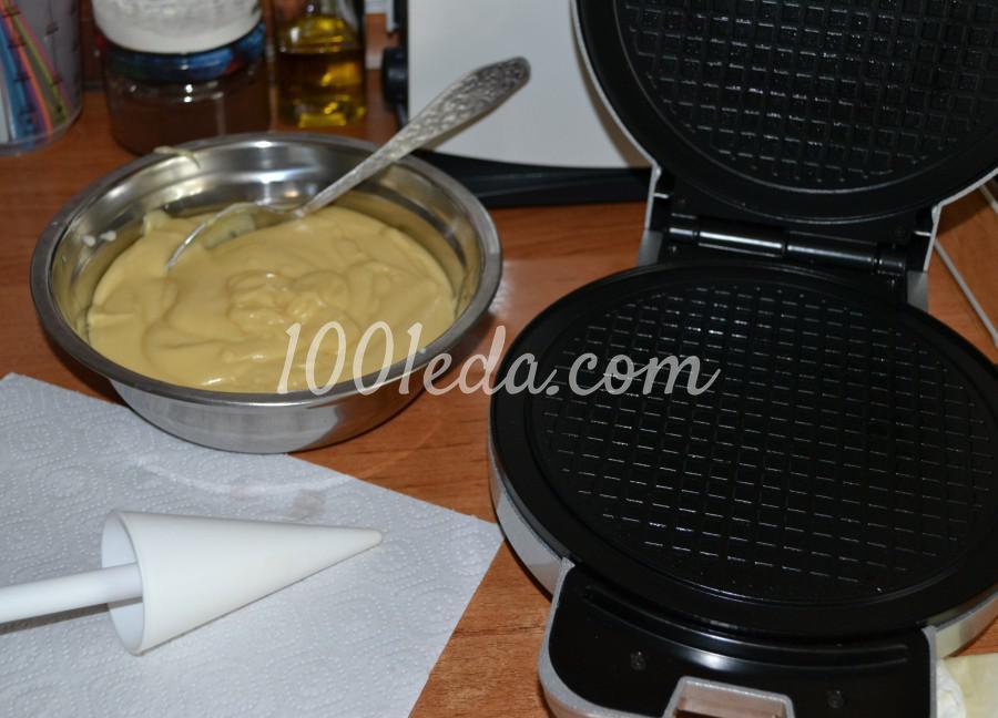 Самые вкусные, хрустящие вафли из детства: пошаговое фото - Шаг №8