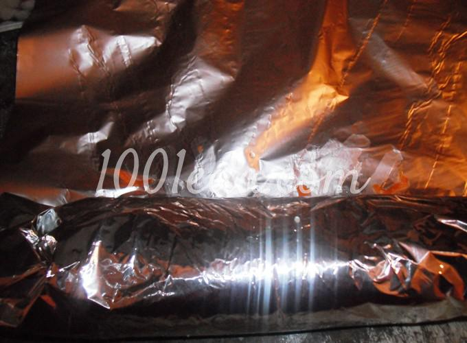 Скумбрия, фаршированная овощами и запеченная в фольге: рецепт с пошаговым фото - Шаг №5