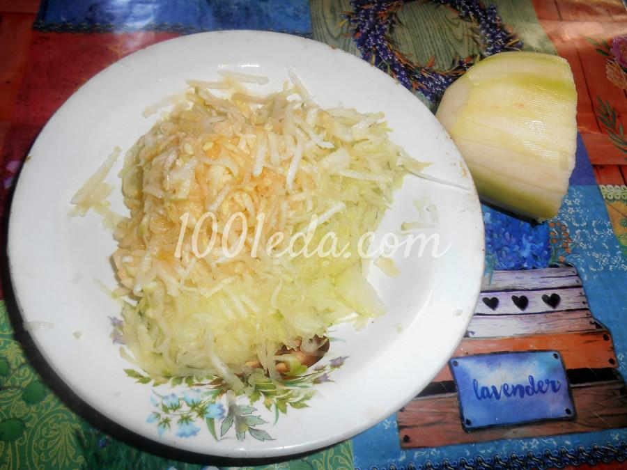 Сладкие оладьи из кабачков на кефире: пошаговое фото - Шаг №3