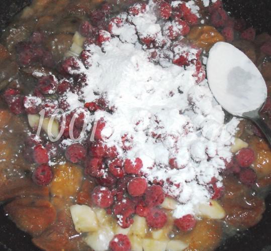 Сладкий фруктовый пирог из постного теста: рецепт с пошаговым фото - Шаг №5