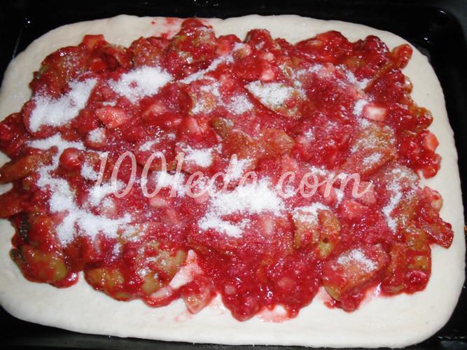 Сладкий фруктовый пирог из постного теста: рецепт с пошаговым фото - Шаг №7