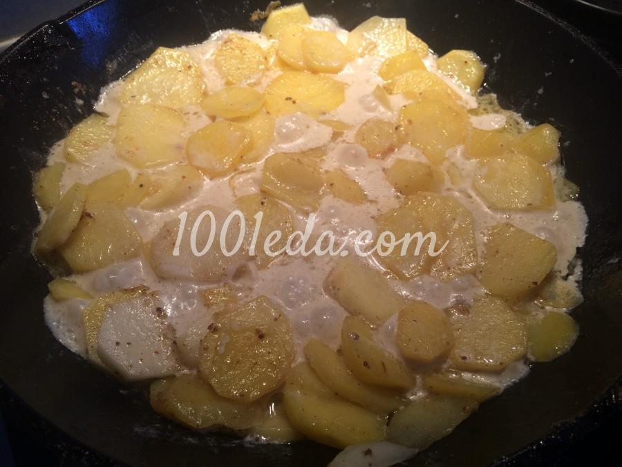 Сливочный картофель, запечёный с грибами: рецепт с пошаговым фото - Шаг №4