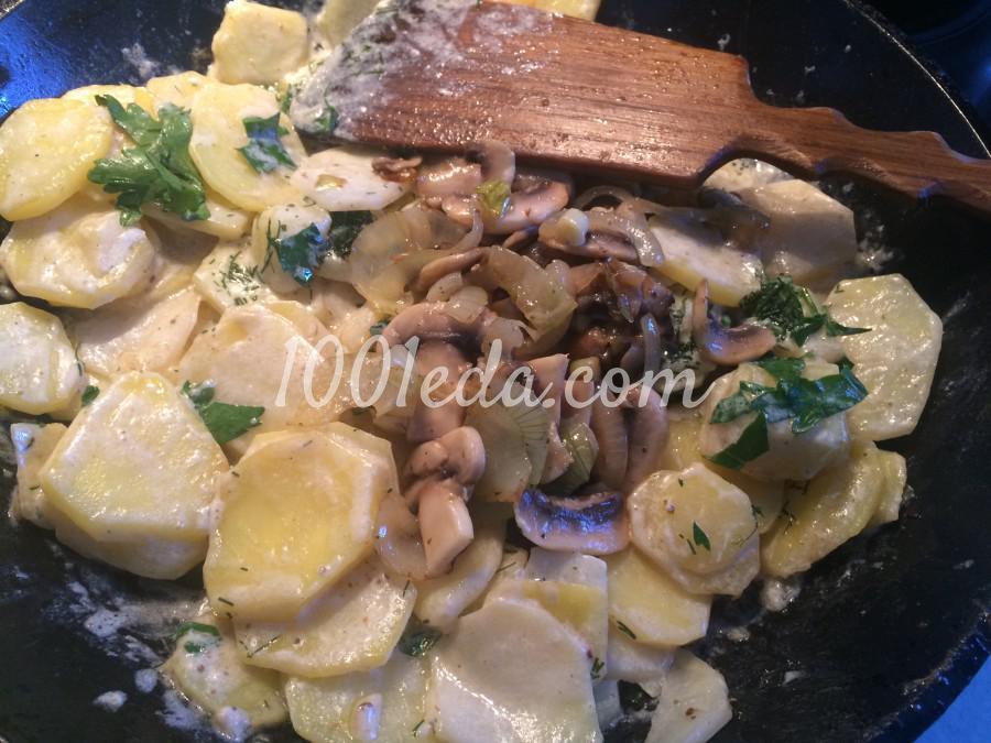 Сливочный картофель, запечёный с грибами: рецепт с пошаговым фото - Шаг №6