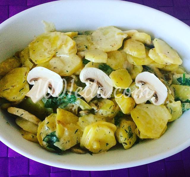 Сливочный картофель, запечёный с грибами: рецепт с пошаговым фото - Шаг №7