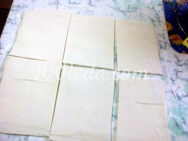 Конверты из слоеного теста пошагово