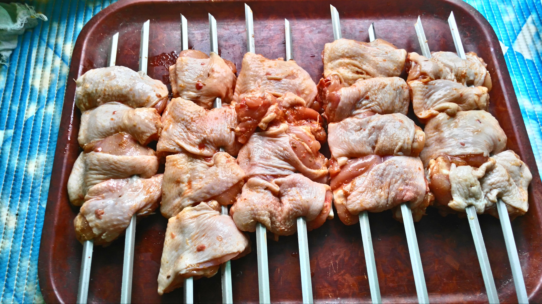 Шашлык из куриных бедрышек рецепт 110