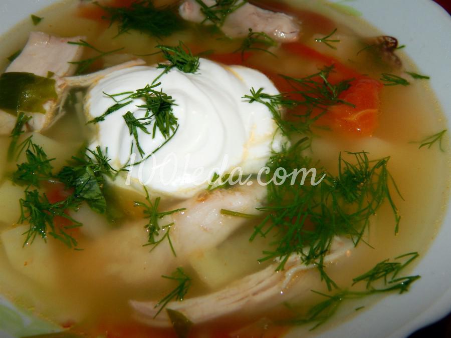 Суп «сельский» с томатом - Шаг №1