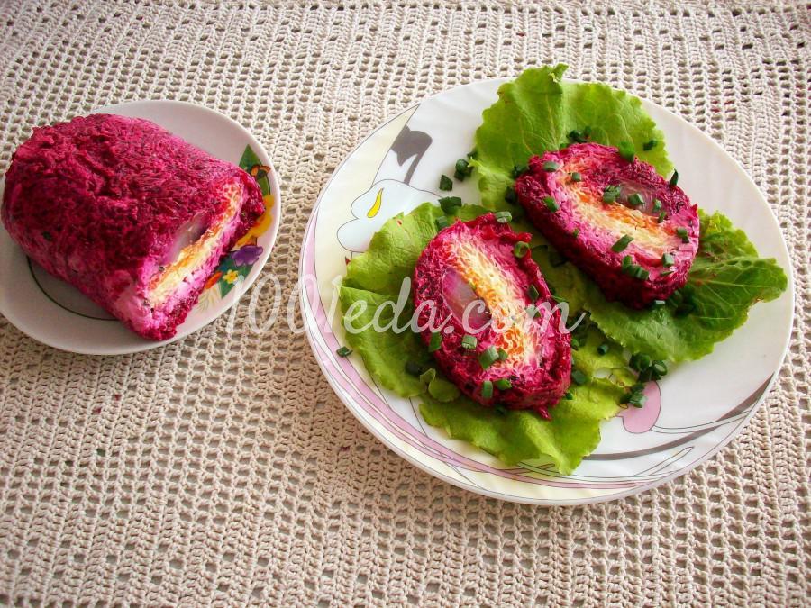 Салат свекла картофель селедка рецепт с фото пошагово