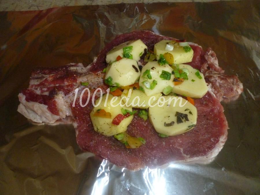 рецепт овощи с мясом в духовке в фольге рецепт