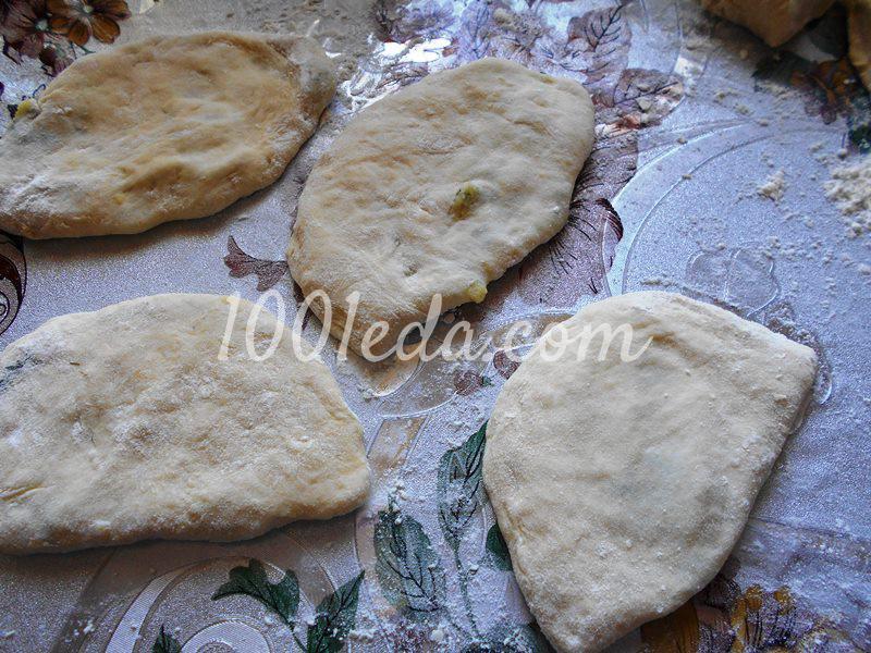 Тонкие пирожки с картофельным пюре на постном тесте: пошаговое фото - Шаг №4