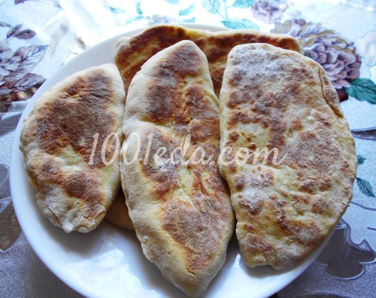 Тонкие пирожки с картофельным пюре на постном тесте: пошаговое фото - Шаг №8