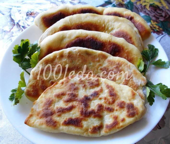 Тонкие пирожки с картофельным пюре на постном тесте: пошаговое фото - Шаг №9