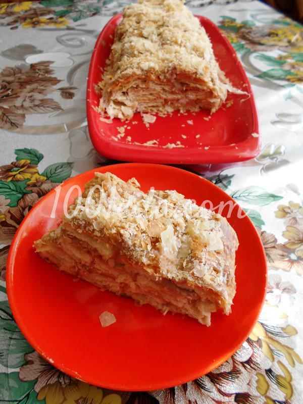 Торт «Наполеон» из «Язычков-слоек»: пошаговый с фото - Шаг №5