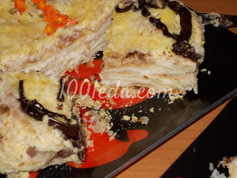 Торт наполеон пошаговый рецепт с фото из готового теста