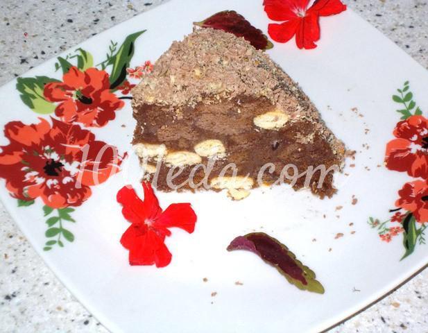 """Торт без выпечки """"Шоколадная горка"""": пошаговый с фото - Шаг №10"""