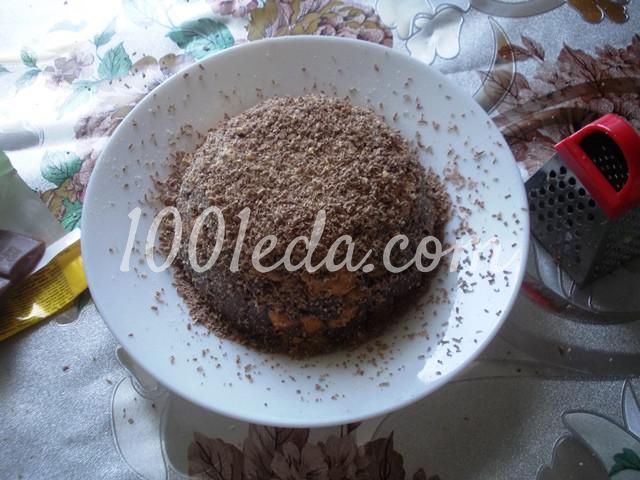 """Торт без выпечки """"Шоколадная горка"""": пошаговый с фото - Шаг №8"""