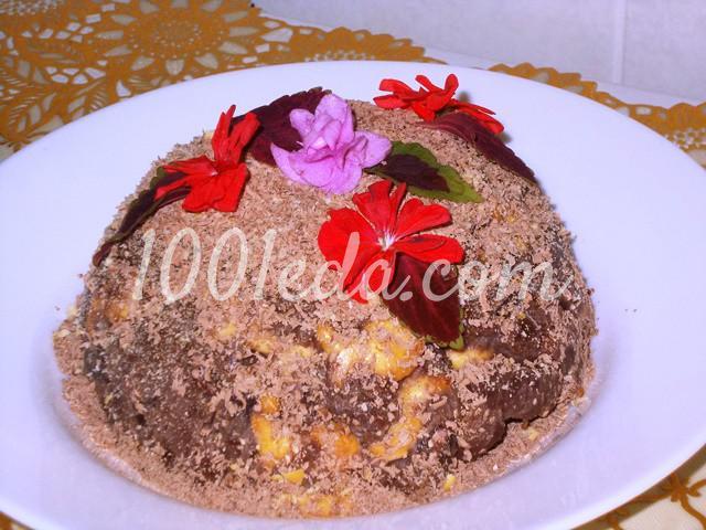 """Торт без выпечки """"Шоколадная горка"""": пошаговый с фото - Шаг №9"""