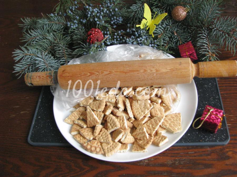 Торт из печенья с орехами: пошаговый с фото - Шаг №3