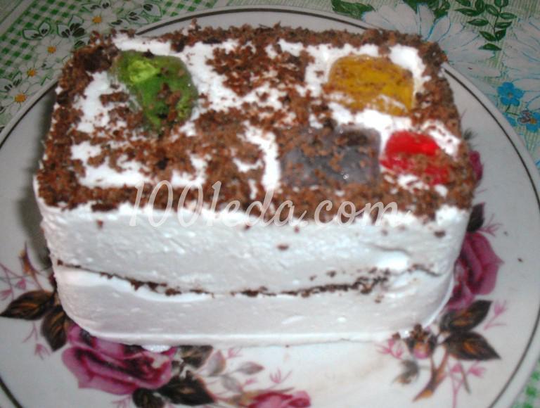 Торт-мороженое с мармеладом: пошаговое фото - Шаг №11