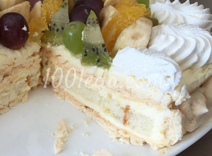 Торт с безе пошаговый рецепт с