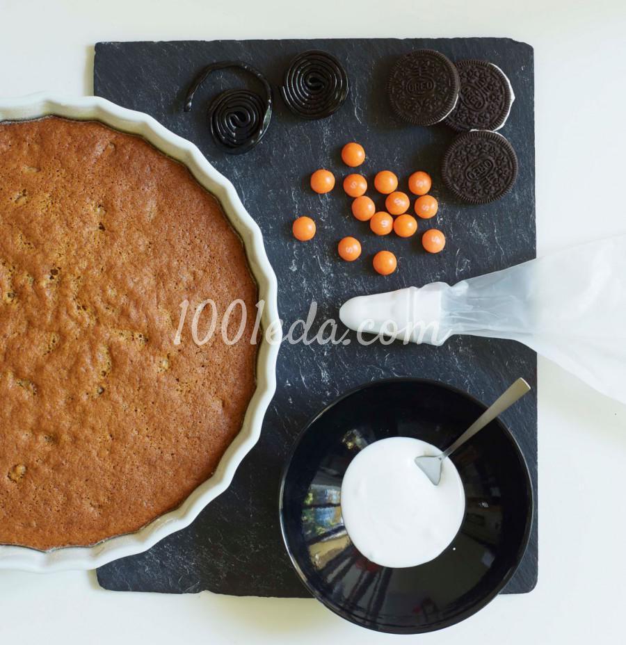 Торт с пауками для Хэллоуина: пошаговый с фото - Шаг №2