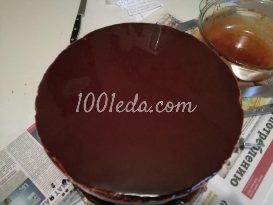 Торт с шоколадно-зеркальной глазурью: пошаговый с фото - Шаг №4