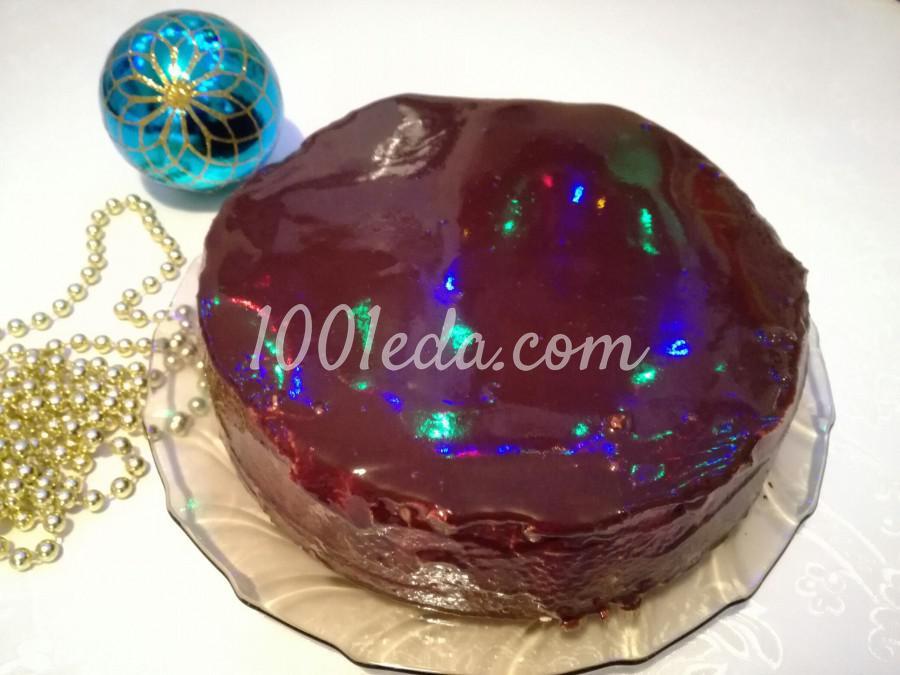 Торт с шоколадно-зеркальной глазурью: пошаговый с фото - Шаг №5