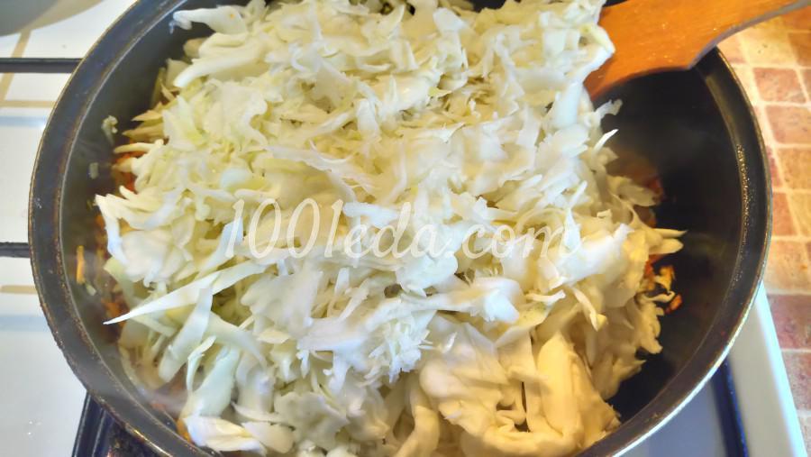 Тушеная капуста с фаршем и лечо: рецепт с пошаговым фото - Шаг №4