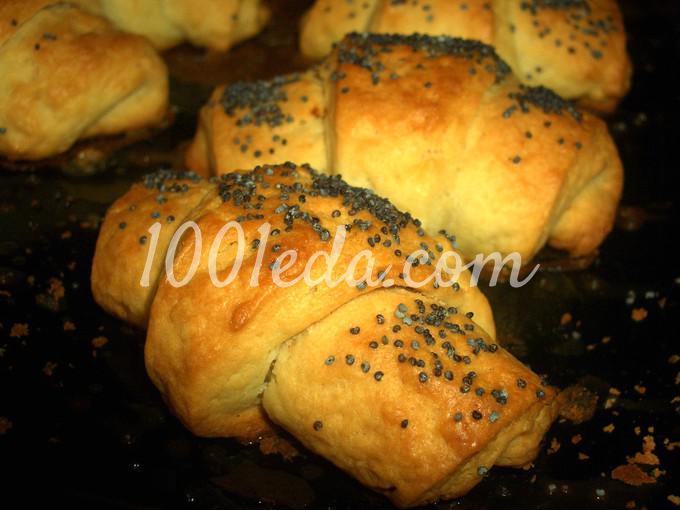 Рогалики с маком рецепт с пошагово в духовке