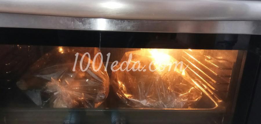 Утка запечённая в рукаве в духовке начинённая булгуром: пошаговое фото - Шаг №6