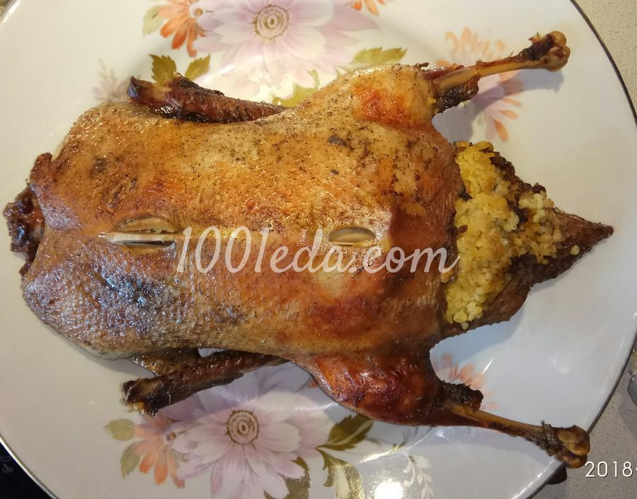Утка запечённая в рукаве в духовке начинённая булгуром: пошаговое фото - Шаг №9