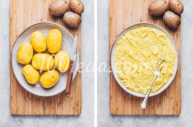 Веганская картофельная лапша с квашеной капустой и грибами - Шаг №1