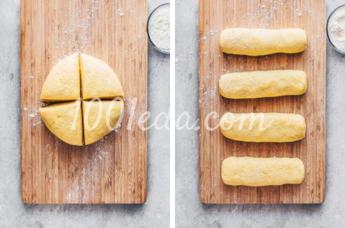 Веганская картофельная лапша с квашеной капустой и грибами - Шаг №4