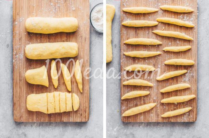 Веганская картофельная лапша с квашеной капустой и грибами - Шаг №5