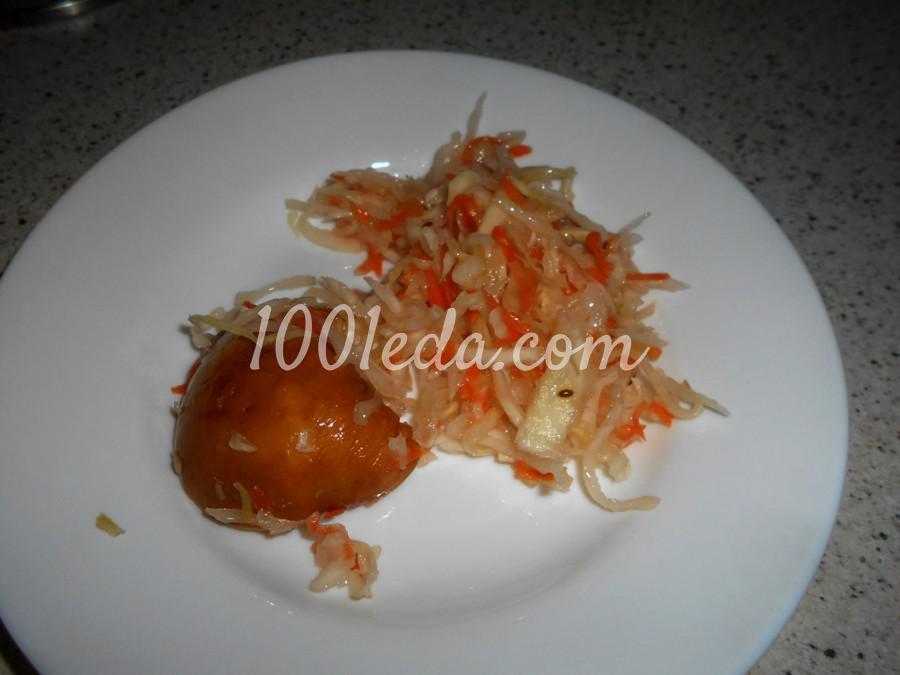 Вегетарианский салат из квашеной капусты: пошаговый с фото - Шаг №1
