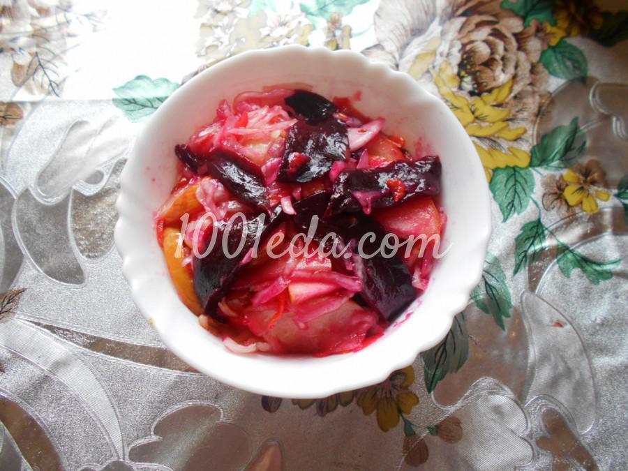 Вегетарианский салат из квашеной капусты: пошаговый с фото - Шаг №7