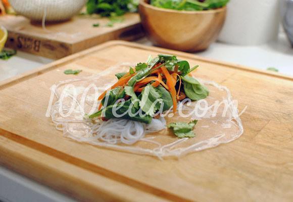 Спринг-роллы с курицей и чесноком: рецепт с пошаговым фото - Шаг №10