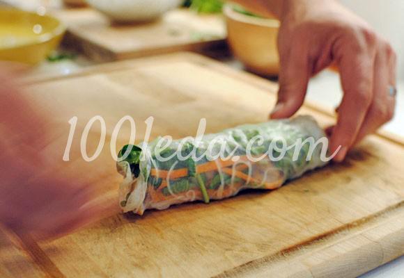 Спринг-роллы с курицей и чесноком: рецепт с пошаговым фото - Шаг №12