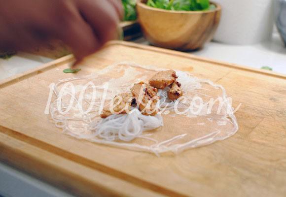 Спринг-роллы с курицей и чесноком: рецепт с пошаговым фото - Шаг №8