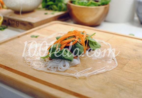 Спринг-роллы с курицей и чесноком: рецепт с пошаговым фото - Шаг №9