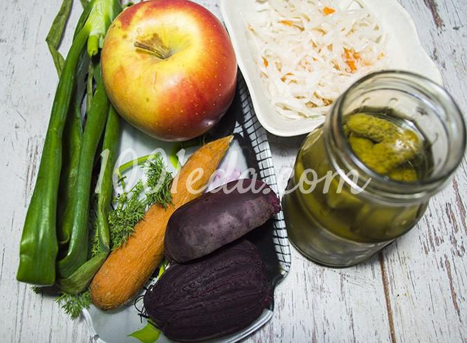 Винегрет диетический с яблоками: пошаговый с фото - Шаг №1
