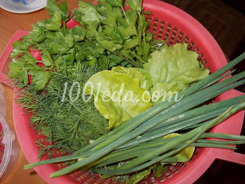 Витаминный салат Букет травок: пошаговый с фото - Шаг №1